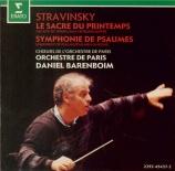 STRAVINSKY - Barenboim - Le sacre du printemps, ballet pour orchestre