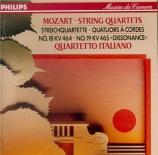 MOZART - Quartetto Itali - Quatuor à cordes n°18 en la majeur K.464