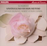 SCHUBERT - Grumiaux - Sonate pour piano et violon en la op.posth.162 D.5
