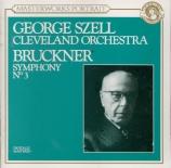 BRUCKNER - Szell - Symphonie n°3 en ré mineur WAB 103