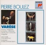 VARESE - Boulez - Amériques