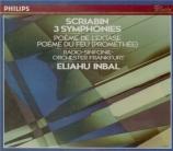 SCRIABINE - Inbal - Symphonie n°1 op.26