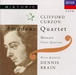 MOZART - Griller Quartet - Quatuor pour piano et cordes en sol mineur K