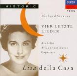STRAUSS - Della Casa - Vier letzte Lieder (Quatre derniers lieder), pour
