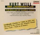 WEILL - Latham-Koenig - Der Lindberghflug (Le vol de Linbergh)