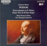 WIDOR - Prunyi - Trio avec piano op.19