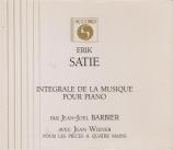 Intégrales des oeuvres pour piano - Pièces à 4 mains