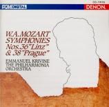 MOZART - Krivine - Symphonie n°36 en do majeur K.425 'Linz' import Japon
