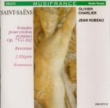 SAINT-SAËNS - Charlier - Sonate pour violon et piano n°1 op.75