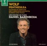 WOLF - Barenboim - Penthesilia, poème symphonique pour grand orchestre