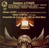 Oeuvres d'orgue pour cuivres et orgue, et pour deux orgues