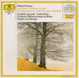 STRAUSS - Janowitz - Vier letzte Lieder (Quatre derniers lieder), pour s