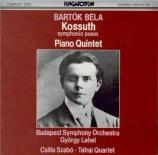 BARTOK - Szabo - Kossuth, poème symphonique en dix tableaux, pour orches