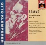 BRAHMS - Klemperer - Symphonie n°1 pour orchestre en do mineur op.68
