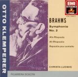 BRAHMS - Klemperer - Symphonie n°2 pour orchestre en ré majeur op.73