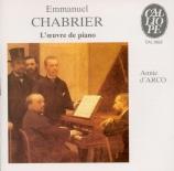 CHABRIER - D'Arco - Dix pièces pittoresques