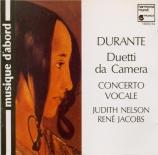 DURANTE - Concerto Vocale - Duetti da Camera