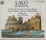 LALO - Dervaux - Le roi d'Ys + récital italien et français d'airs pour ténor (1968)