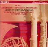 MOZART - Academy of St M - Quintette pour clarinette et cordes en la maj