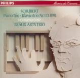 SCHUBERT - Beaux Arts Trio - Trio avec piano n°1 en si bémol majeur op.9