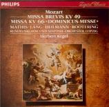 MOZART - Kegel - Missa Dominicus en do majeur, pour solistes, chœur et o