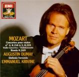 MOZART - Dumay - Concerto pour violon et orchestre n°4 en ré majeur K.21