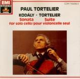 KODALY - Tortelier - Sonate pour violoncelle seul op.8