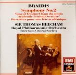 BRAHMS - Beecham - Symphonie n°2 pour orchestre en ré majeur op.73