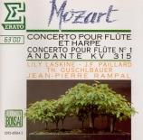 MOZART - Laskine - Concerto pour flûte, harpe et orchestre en do majeur