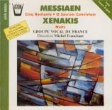 MESSIAEN - Groupe Vocal de - Cinq rechants