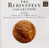 BRAHMS - Rubinstein - Sonate pour piano n°3 en fa mineur op.5