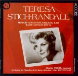 MOZART - Stich-Randall - Exsultate, jubilate, motet pour soprano, orgue
