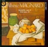 MAGNARD - Keller - Quintette pour piano et vents op.8