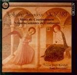 MOZART - Ristenpart - Messe en do majeur, pour solistes, chœur, orgue et