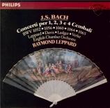 BACH - Leppard - Concerto pour clavecin et cordes n°1 en ré mineur BWV.1
