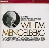 BRAHMS - Mengelberg - Ein deutsches Requiem (Un Requiem allemand), pour import Japon