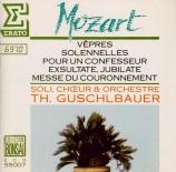 MOZART - Guschlbauer - Vesperae solennes de confessore, pour solistes, c