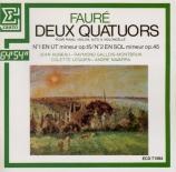 FAURE - Hubeau - Quatuor avec piano n°1 en ut mineur op.15