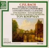 BACH - Koopman - Concerto doppio pour clavecin et pianoforte avec deux f