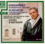 STRAVINSKY - Barenboim - Symphonie de psaumes, pour chœur et orchestre