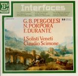PERGOLESE - Scimone - Concerto pour violon en si bémol majeur