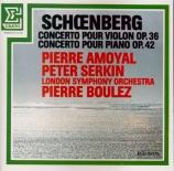 SCHOENBERG - Amoyal - Concerto pour violon op.36