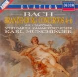 BACH - Münchinger - Concerto brandebourgeois n°4 pour orchestre en sol m