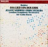 MAHLER - Davis - Das Lied von der Erde (Le chant de la terre), pour téno