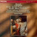 MOZART - Kegel - Missa Trinitatis en do majeur, pour chœur, orgue et orc