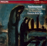 RACHMANINOV - Beaux Arts Trio - Trio élégiaque n°2, pour piano, violon e