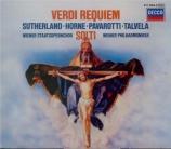 VERDI - Solti - Messa da requiem, pour quatre voix solo, chœur, et orche