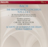 BACH - Marriner - Concerto brandebourgeois n°1 pour orchestre en fa maje