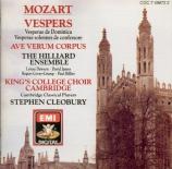 MOZART - Cleobury - Vesperae solennes de Dominica, pour solistes, chœur