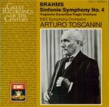 BRAHMS - Toscanini - Symphonie n°4 pour orchestre en mi mineur op.98